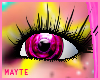 pink colores eyes