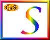 C&S Rainbow Letter S