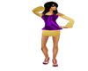 purple gold tops