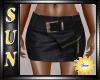 [SUN] Black Leather Mini