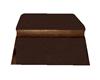Brown ottoman