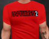 Red Dsquared2 Tee