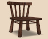 Plain Brown Wood Chair
