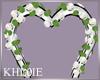 K bw wedding  roses arch