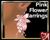 .a Pink Floral Earrings