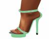 Green Spiked Heels