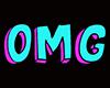 Sticker neon word