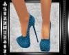 ^AZ^Cocktail Heels-Teal