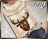 Cream Reindeer Sweater