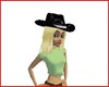 Cowgirl hat/hair aureate