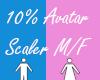 10% Avatar Scaler