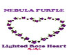 Nebula Puple Rose Heart