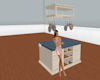 Kitchen Island w/pot rac