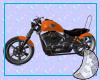 Orange Harley Davidson