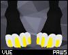 V e Yellow Paws F