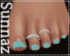 (S1) Mint Beach Toes