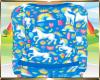 Kids Blue Unicorn Top