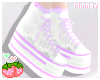 ♡ Pastel lace sneakers