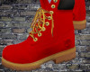 DK] Red Timberland Boots