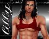 Sexy crop vest Red
