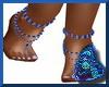 Sapphires.Dia Foot Bling