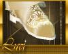 LUVI GOLD & WHITE SHOES