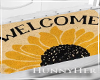 H. Weclome Mat Sunflower