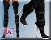 (DC)Leather Boots Black