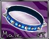 (M)Blu Spiked Collar[FT]