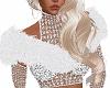 White Shoulder Fur