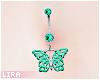 Green Butterfly Piercing