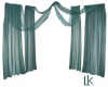 Sheer Turquoise Drapes