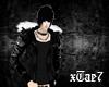 [Tae7] Black Fur Jacket