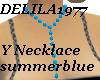 D77 Summer blue necklace