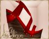 {liz} Red Sandals