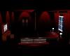 Dark Red Motel Room