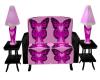 BC Awareness sofa w/lamp