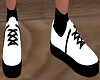 Black and white trainers