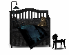 black and blue crib