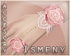 [Is] Pink Rose Wrist R&L