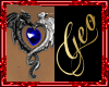 Geo Dragon Love Blue F