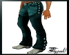 ~T~Muscle Teal Chaps