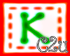 C2u letter K Sticker