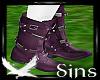 Purple Biker Boots