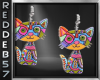 Mosaic Kitty Earrings