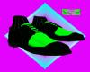 Black an Green Shoes