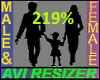 219% Tall
