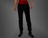 Tuxedo Black Pants & Red