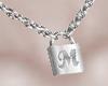 [NR]Letter M Lock Chain