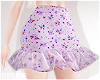 Lilac Floral Skirt